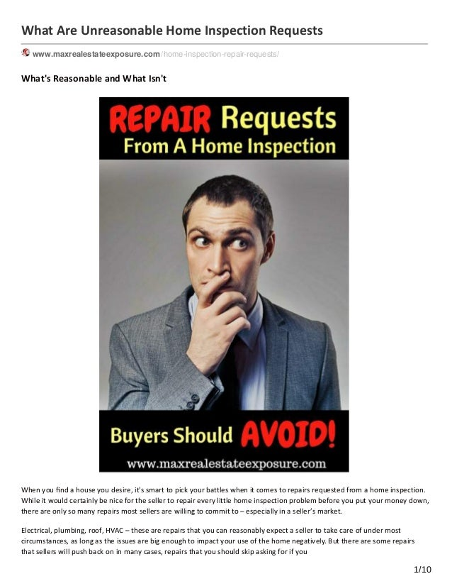 Beau What Are Unreasonable Home Inspection Requests  Www.maxrealestateexposure.com /home Inspection  ...