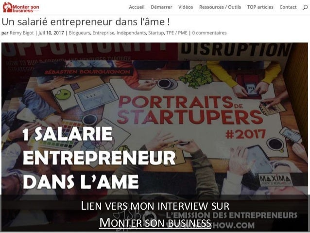 Un salarié entrepreneur dans l'âme ! Slide 3