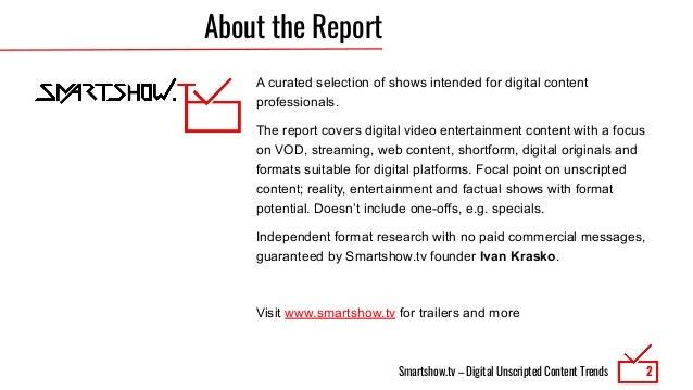 Digital Unscripted Content Trends 8/2020 Slide 2