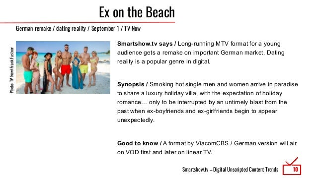 Smartshow.tv – Digital Unscripted Content Trends Ex on the Beach Smartshow.tv says / Long-running MTV format for a young a...