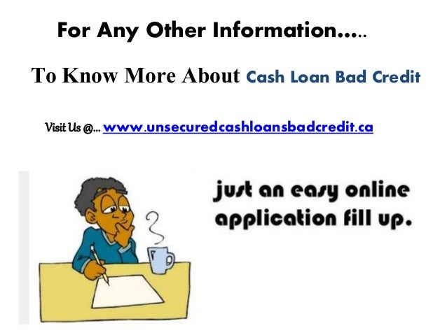how to get a cash loan with bad credit