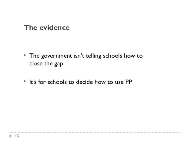 The evidence  Seeking out excellent practice in other schools http://apps.nationalcollege.org.uk/closing_the_gap/index.cf...