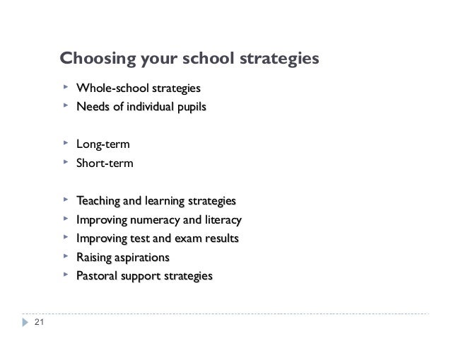 TARGETED STRATEGIES FOR PUPILS ELIGIBLE FOR FSM …which specifically benefit FSM pupils STRATEGIES FOR UNDER- PERFORMING PU...