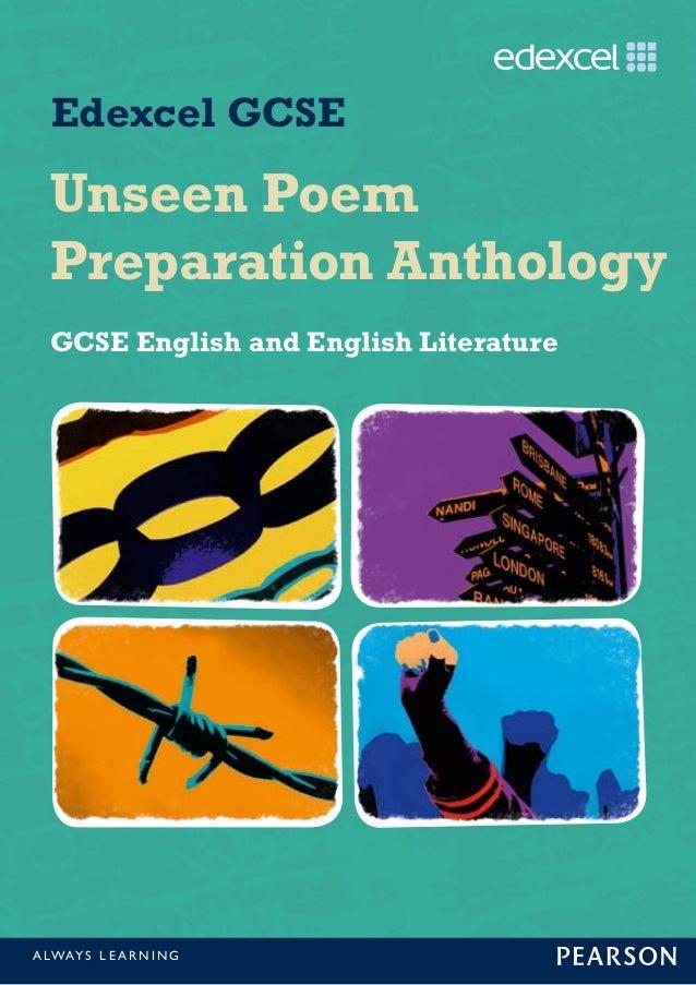 unseen poem preparation anthology. Black Bedroom Furniture Sets. Home Design Ideas