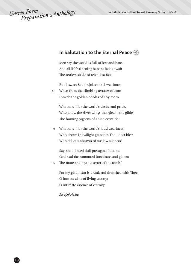 Unseen Poem Preparation Anthology