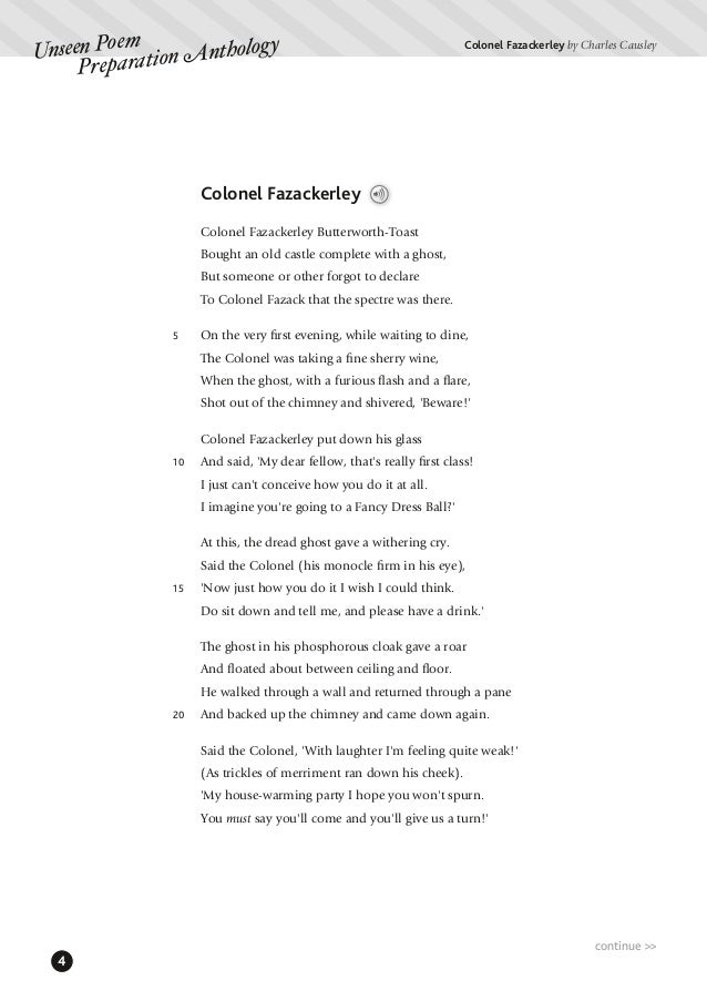 charles causley poetry essay Explain how charles causley uses literary effects the poet, charles causley charles causley does this effectively, and this essay is going to explain how.