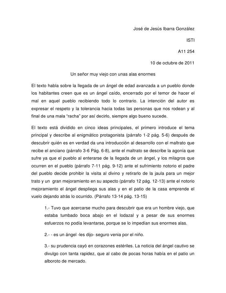José de Jesús Ibarra González <br />ISTI<br />A11 254<br />10 de octubre de 2011<br />Un señor muy viejo con unas alas eno...