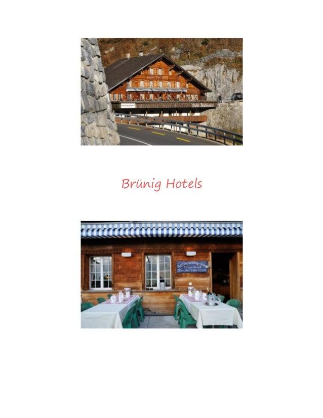 Brünig Hotels
