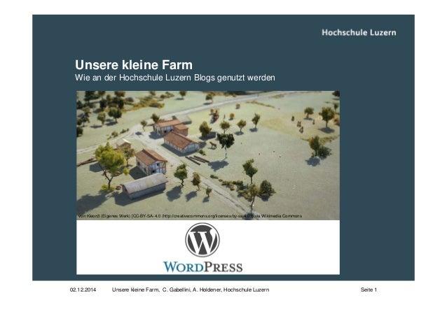 Unsere kleine Farm  Wie an der Hochschule Luzern Blogs genutzt werden  von Kleon3 (Eigenes Werk) [CC-BY-SA-4.0 (http://cre...