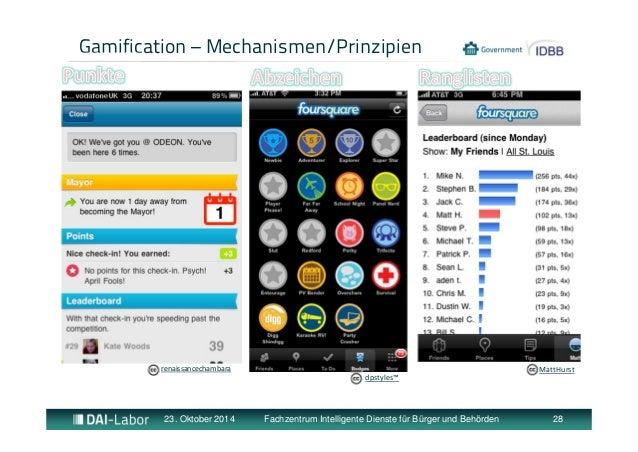 Gamification – Mechanismen/Prinzipien  renaissancechambara MattHurst  dpstyles™  23. Oktober 2014 Fachzentrum Intelligente...