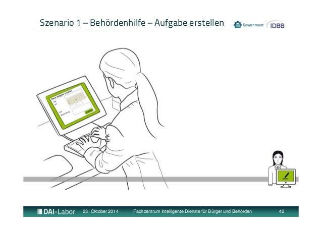 Szenario 1 – Behördenhilfe – Aufgabe erstellen  23. Oktober 2014 Fachzentrum Intelligente Dienste für Bürger und Behörden ...
