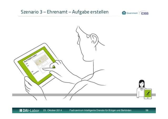 Szenario 3 – Ehrenamt – Aufgabe erstellen  23. Oktober 2014 Fachzentrum Intelligente Dienste für Bürger und Behörden 58