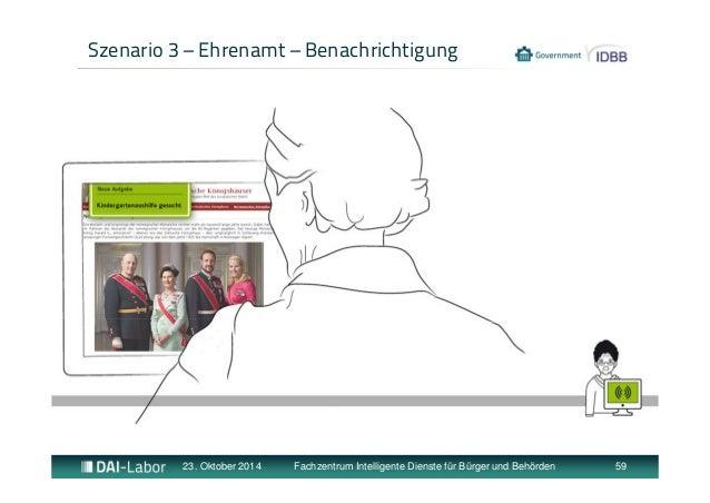 Szenario 3 – Ehrenamt – Benachrichtigung  23. Oktober 2014 Fachzentrum Intelligente Dienste für Bürger und Behörden 59
