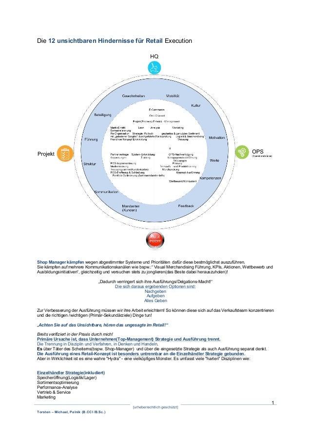[urheberrechtlich geschützt] Torsten – Michael, Palnik (B.CCI /B.Sc.) 1 Die 12 unsichtbaren Hindernisse für Retail Executi...