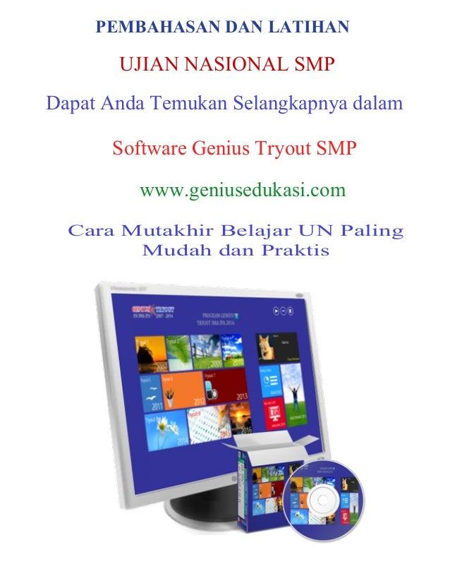 Soal Ujian Nasional Smp 2013 Newhairstylesformen2014 Com