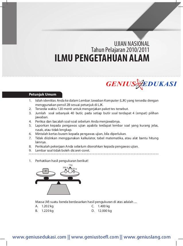 Download Soal Un Ipa Smp 2010 2011