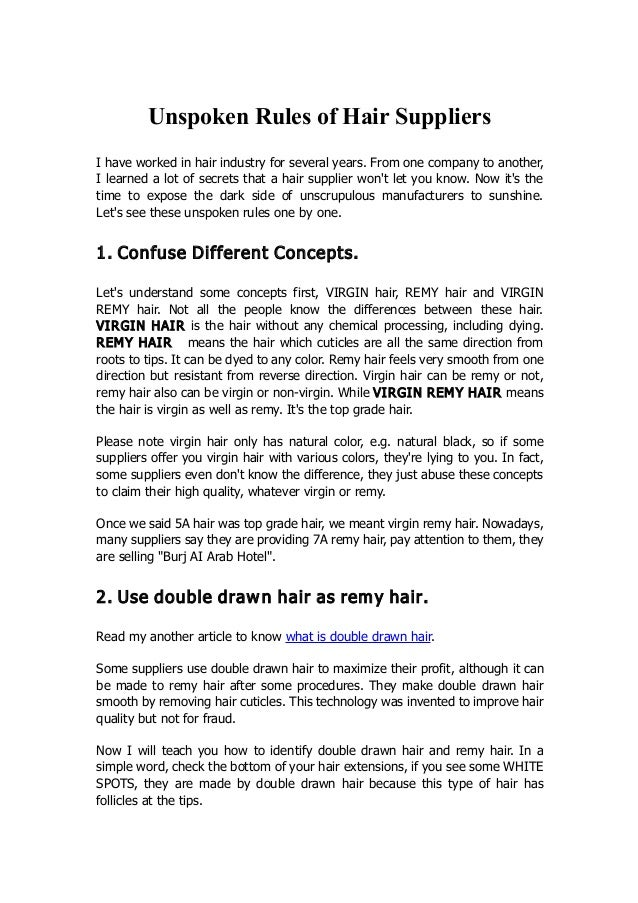 2c26fc120c9 Unspoken Rules of Hair Suppliers I have worked in hair industry for several  years.