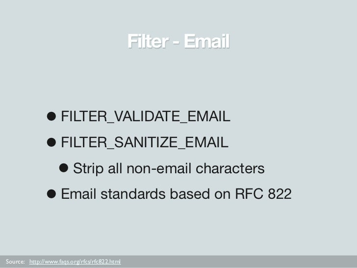 filter_validate_email