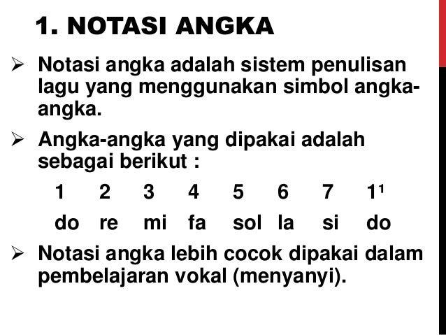 Not Angka Lagu Daerah Madura
