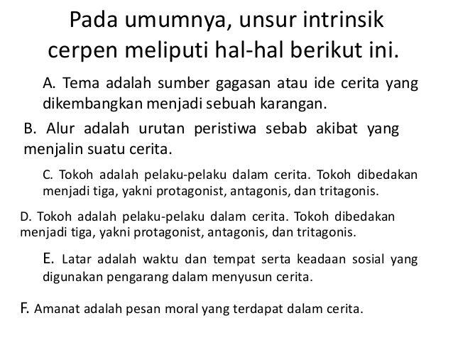 Unsur Intrinsik Cerpen Novel Dan Drama Berserta Contoh Soal