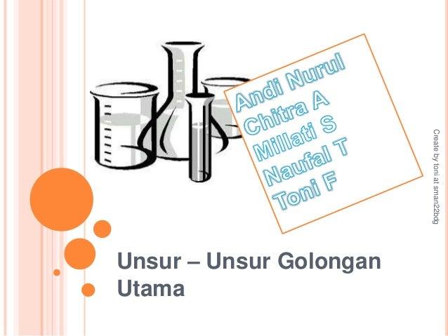 Create by toni at sman22bdgUnsur – Unsur GolonganUtama