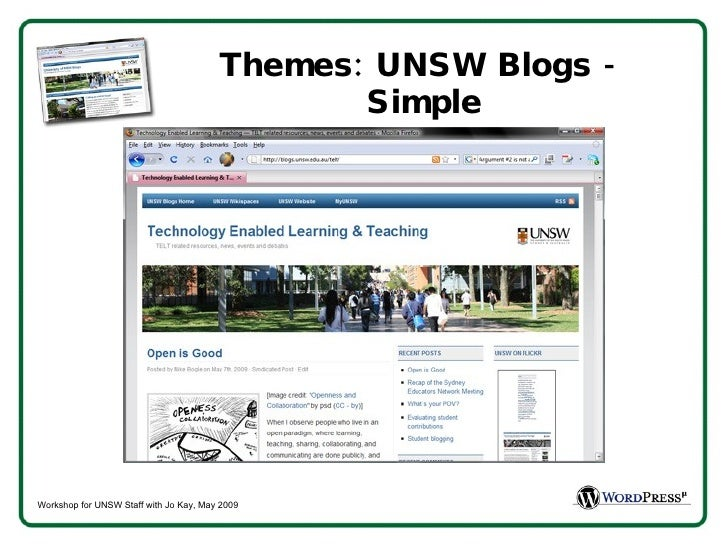 Themes: UNSW Blogs -  Simple