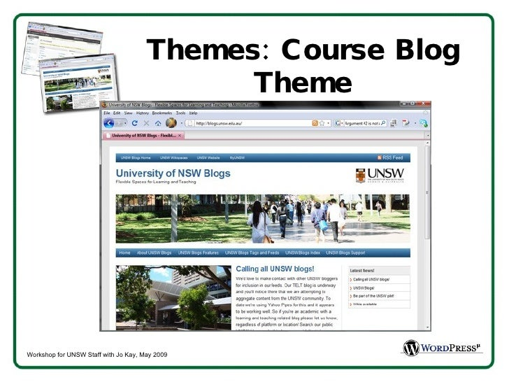 Themes: Course Blog Theme