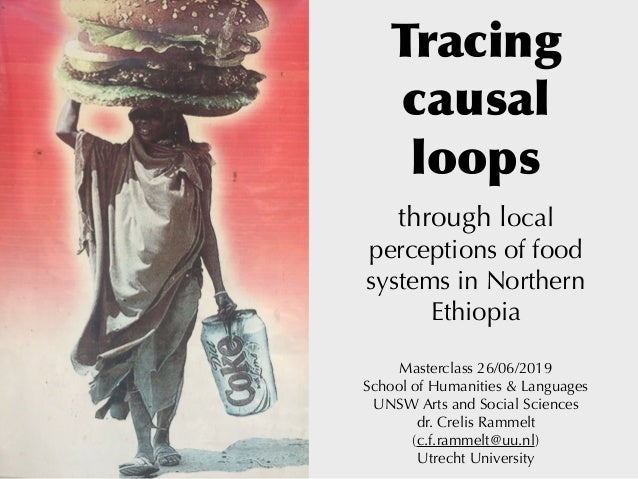 Tracing causal loops through local perceptions of food systems in Northern Ethiopia Masterclass 26/06/2019 School of Hum...