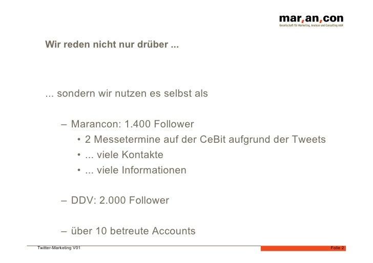 Twittermarketing und CRM  Slide 2