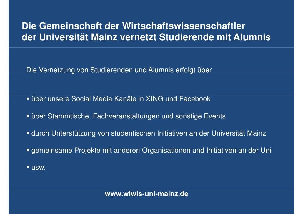 Die GDi Gemeinschaft der Wirtschaftswissenschaftler         i    h ft d Wi t h ft i           h ftlder Universität Mainz v...