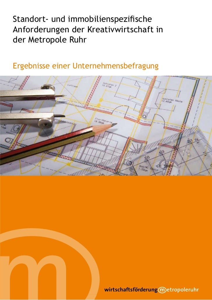 Standort- und immobilienspezifischeAnforderungen der Kreativwirtschaft in  Hier ist Platz für eine Headlineder Metropole R...
