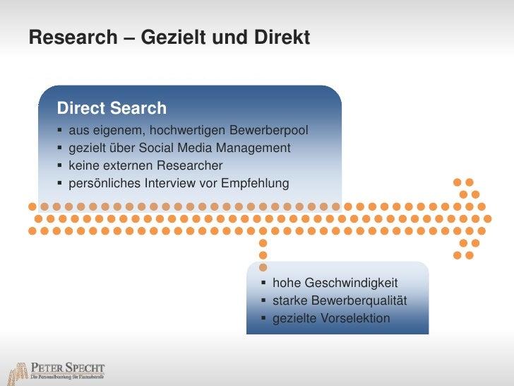 Research – Gezielt und Direkt<br />Direct Search<br /><ul><li>aus eigenem, hochwertigen Bewerberpool