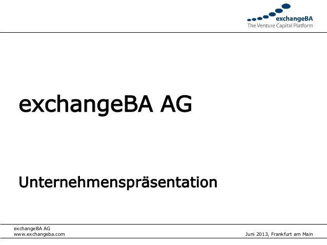 exchangeBA AG UnternehmenspräsentationexchangeBA AG                                         Vorstand                      ...