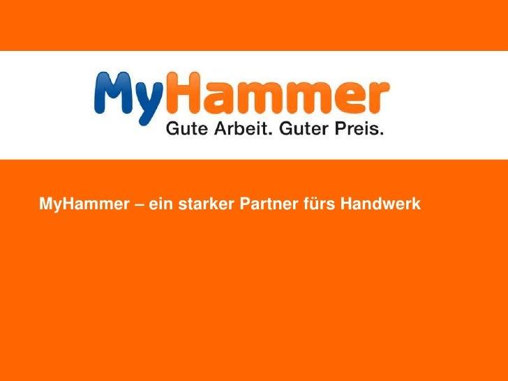 Unternehmenspräsentation MyHammer