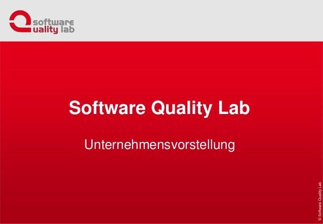 Software Quality Lab Unternehmensvorstellung