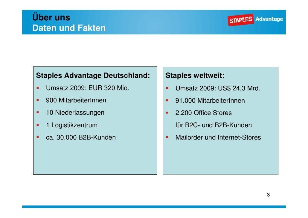 Staples -  Unternehmenspräsentation Slide 3
