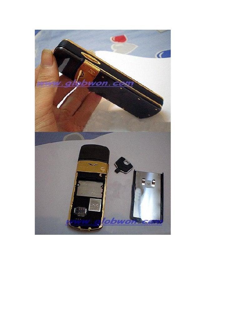 Unterzeichnung 12i Gold Silber Luxus Telefon