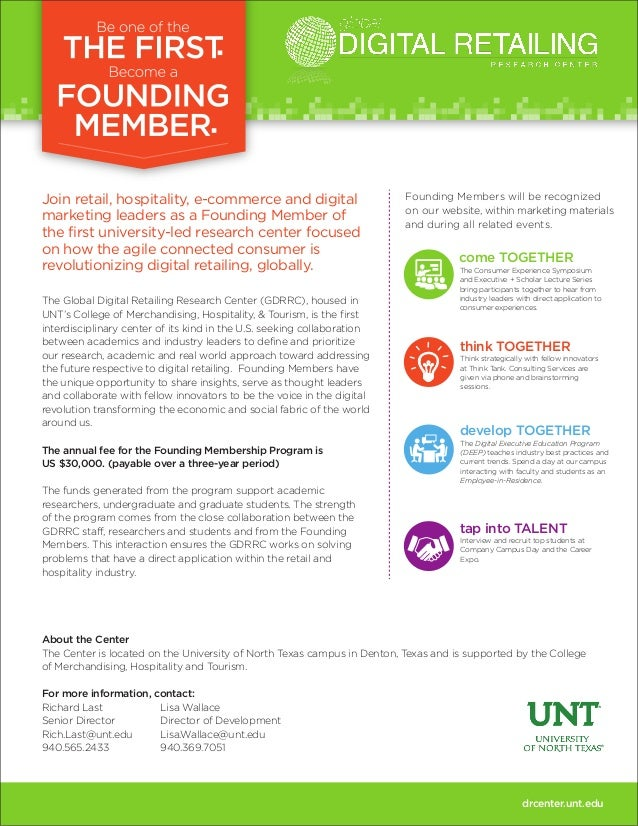 Join retail, hospitality, e-commerce and digital marketing leaders as a Founding Member of the first university-led resear...