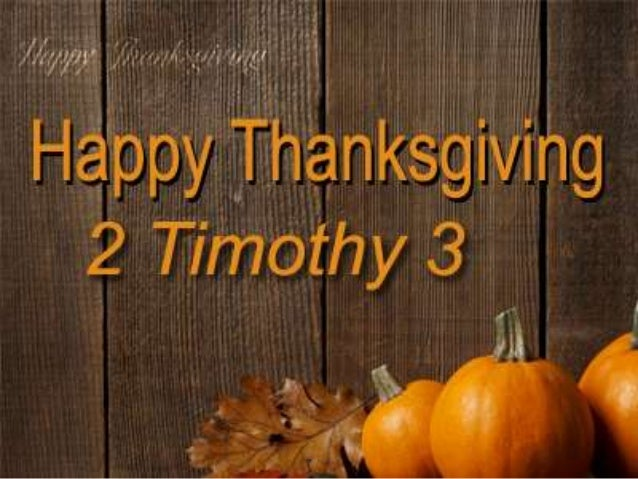 A Warning to the Unthankful