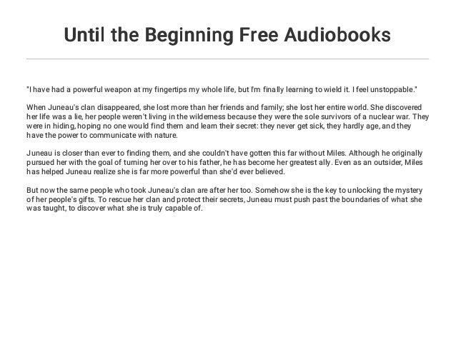 Until the Beginning Free Audiobooks