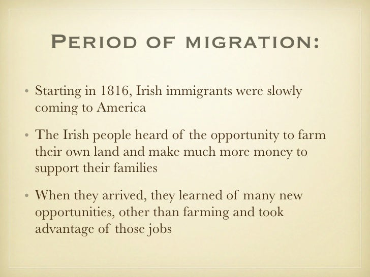 Irish immigration the gilded age essay
