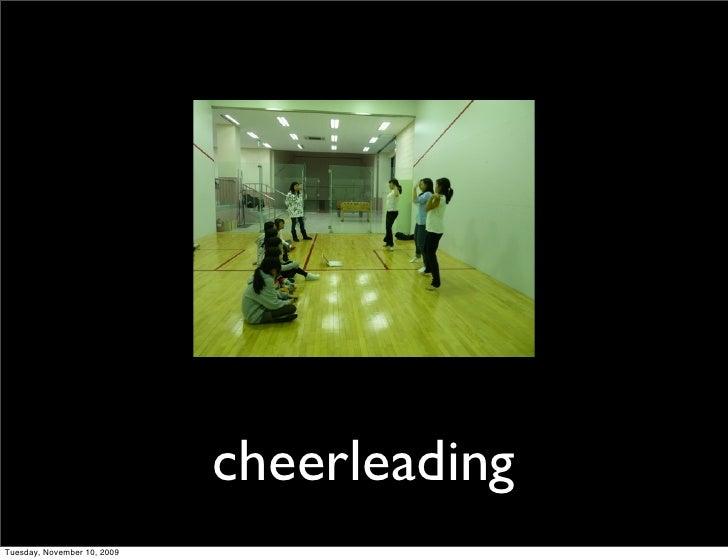 cheerleading Tuesday, November 10, 2009