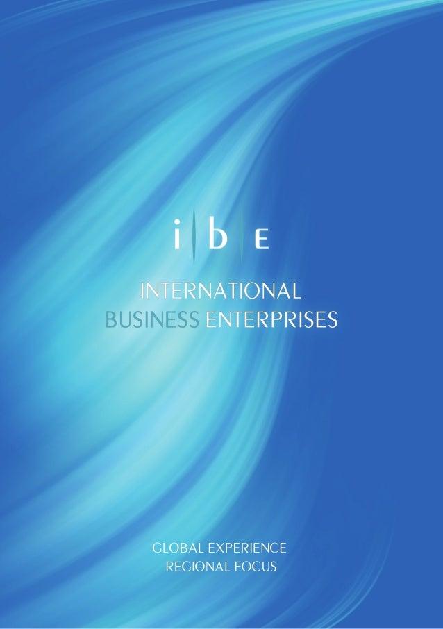 Iii  INTERNATIONAL    I I II.  ENTERPRISES  CLOBAL EXPERIENCE REGIONAL FOCUS