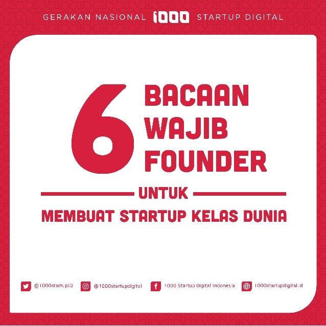 6 Bacaan Wajib Founder untuk Membuat Startup Kelas Dunia