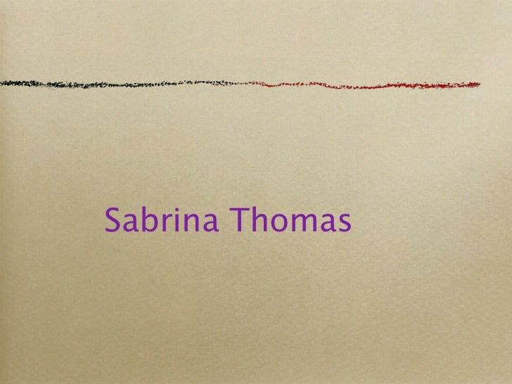 Sabrina Thomas