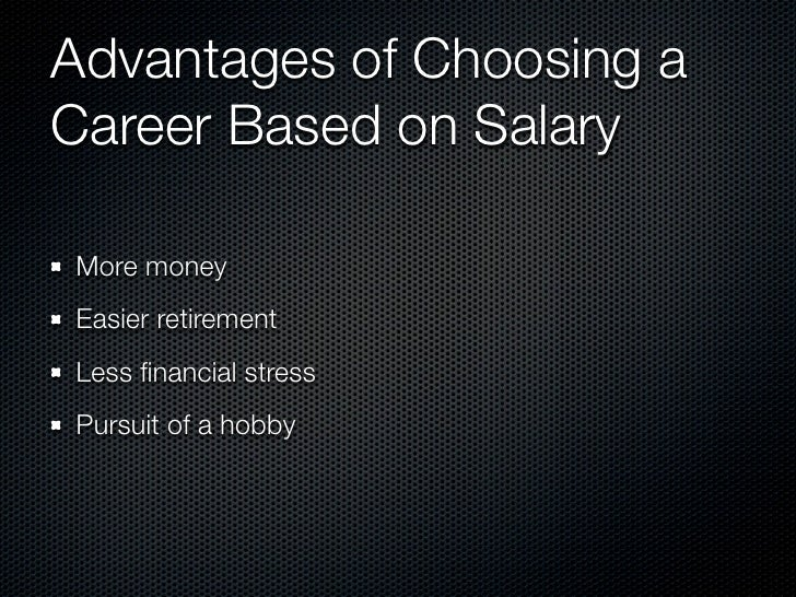 factors considered when choosing a career Which factors should you consider in determining which career is right for you they could prove critical to your long-term satisfaction.