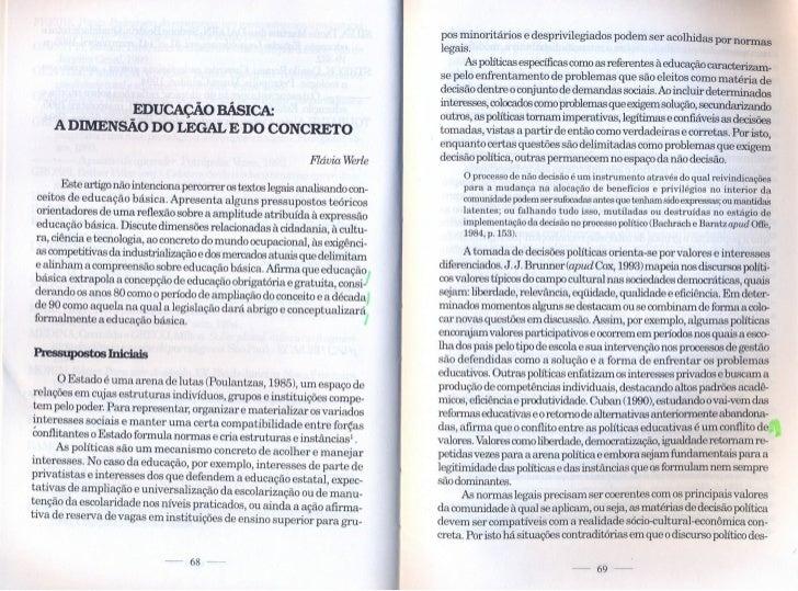 Educação Básica: a dimensão do legal e do concreto