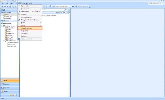 Microsoft Office Outlook 2007 Setting up POP3 Email Accounts