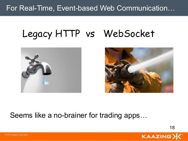 For Real-Time, Event-based Web Communication…                   Legacy HTTP vs WebSocket     Seems like a no-brainer for t...
