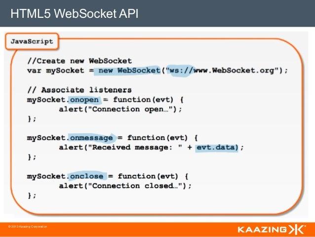 HTML5 WebSocket API© 2013 Kaazing Corporation